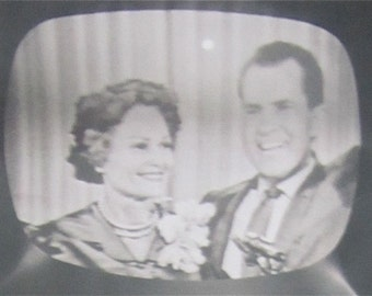 Original 1960 Vice President Nixon Republican Convention TV Television Snapshot Photo - Free Shipping