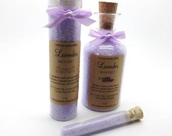 Lavender Bath Salt, Lavender Aromatherapy, Bridesmaid Gift, Mother's Day Gift, Teacher Gift, Aromatherapy Spa Gift, Choose your Size