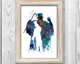 Jekyll and Hyde Poster  Watercolor Musical Print Kids Decor Giclee  High School Musical  Wall Decor Home Decor Instant Digital Download