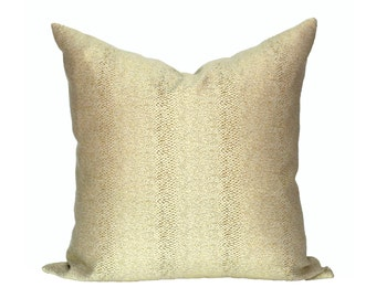 READY TO SHIP - 20x20 Glossy Slither Gold Designer Pillow Cover