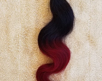 """18"""" Body Wave Weft Hair, 100grs,Weft Weaving (Without Clips),100% Human Hair Extensions,  7A Brazilian Ombre # T1B/Red"""