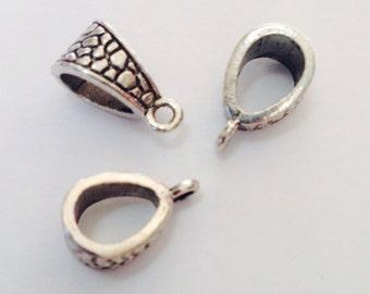 3 PCs metal loop Ø12 mm Tibetan silver