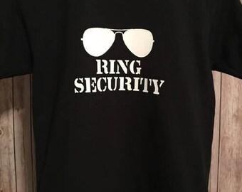 Ring Security Shirt, Wedding Rehearsal Shirt, Ring Bearer Gift, Ring Bearer Shirt, Boy Wedding Rings Shirt