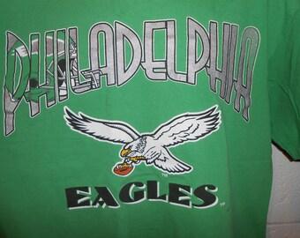 Vintage 90s Nutmeg Kelly Green Philadelphia Eagles T-Shirt XL