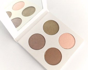 EYESHADOW PALETTE Organic Pressed Mineral Eyeshadow - Natural Botanical Eye Shadow - Organic Plant Makeup - Gluten Free Vegan Makeup