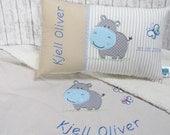 Spar-Set Babydecke und Namenskissen individualisiert für Jungen