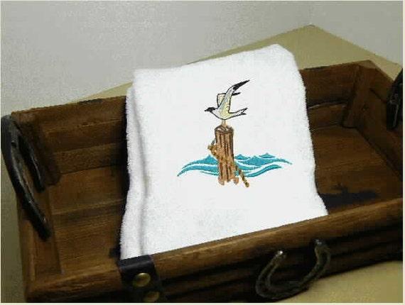 Nautical Hand Towel Nautical Towel Bath Towel Kitchen