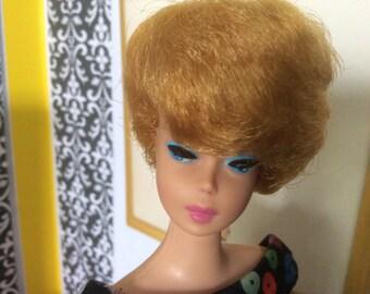 Vintage Blonde Bubble Cut Barbie (Wearing Apple Sheath)