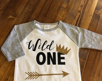 WhEre The WILD things wild one shirt raglan baseball tee baby first birthday i am one boho wild free sale family baby toddler