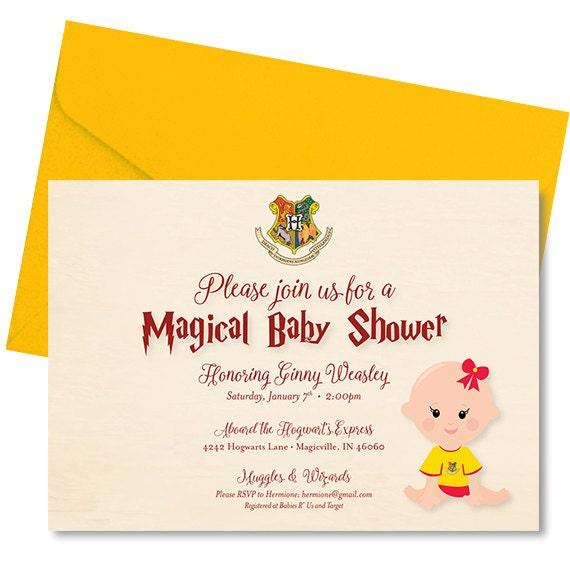 Harry Potter Baby Shower: Harry Potter Baby Shower Invitation Harry Potter Baby Shower
