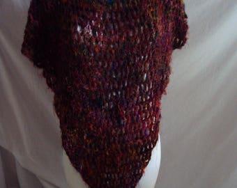 Handmade multi coloured poncho