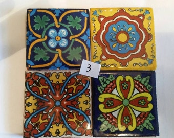 Mexican Tile Refrigerator Magnet Set of 4 strong neodymium #3