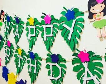 Luau/ hawaiaan banner