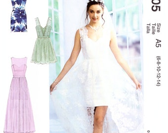 MP305 or MP501 or 7507, McCalls,  Prom Dress, Bridesmaid dress, Maxi Dress, Mini Dress, Sweetheart dress, Strapless Dress, Evening Dress