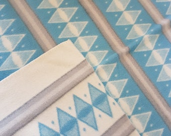Mid century modern Atomic  wool blanket / plaid. Rare 50s danish design. Scandinavian retro.