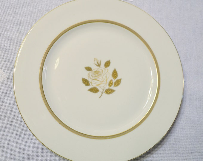 Vintage Rosenthal Rosenthal Rose Dinner Plate Gold Rose Design Germany Replacement Panchosporch