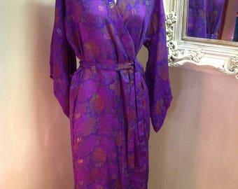 Sari dressing gown