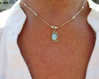 Opal and Sterling Necklace