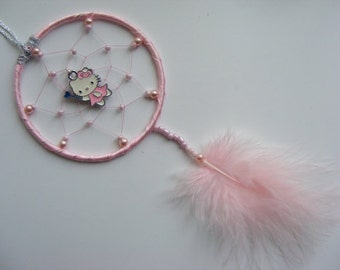 Hello Kitty MINI Dreamcatcher Bedroom or Car Mirror Charm Birthday gift Present
