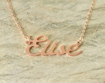 Alloy Name Jewelry Personalized Nameplate Necklace, Birthday Gift, Custom Name Necklace
