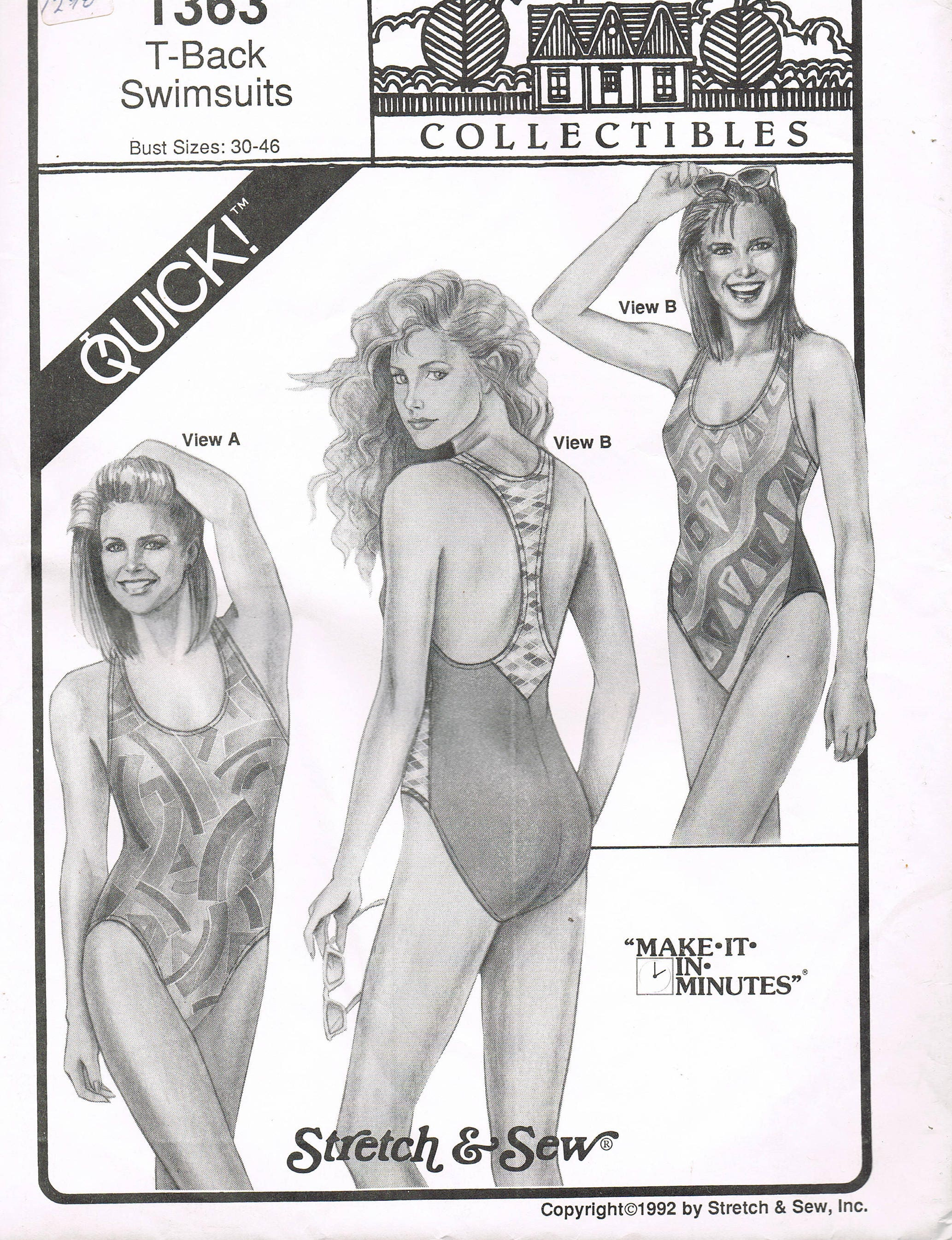 Size xs xl misses swimsuit pattern racer back swimsuit sewing sold by busybeaverboutique jeuxipadfo Gallery