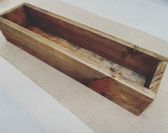 Rustic flower box wedding table centerpiece wedding Decor