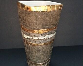 Art Pottery Vase Italy style of Fratelli Fanciullacci Mid-Century REDUCED