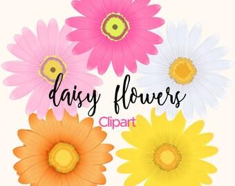Daisy flower clipart – Etsy
