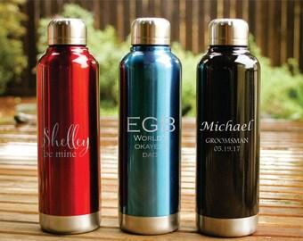 Custom Water Bottle, Monogrammed Water Bottle, Personalized Water Bottle, Engraved Water Bottle, Ring Bearer Gift