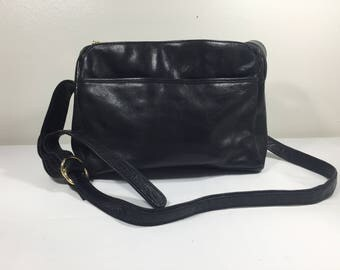 Black Leather Purse, Bag, Made in India, Shoulder Bag, Cross Body