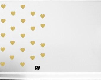 Gold Heart Wall Decals. Heart Decals. Wedding Wall Decor. Vinyl Decals. Wall Decal. Bedroom wall decals. Wall sticker. Home decor decals.