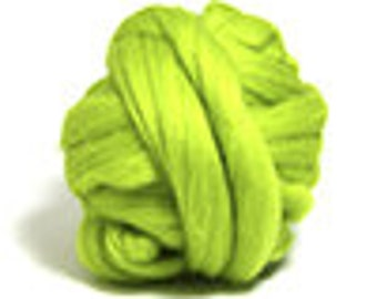 Corriedale wool roving in Citrus - 2 oz.