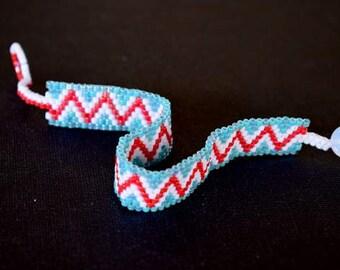 Handmade item.Beaded bracelet.Stitch Peyote.Friendship Bracelet.Mariella's Code