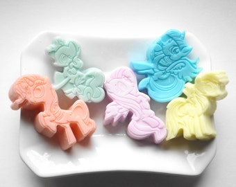 My little ponny Soap Set of 5 Soaps Bars Kids Party Favor, Party Favor, Birthday favors