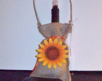 CANDLE HOLDER in BURLAP Bag! ~ Was 12.95 ~ Now just 6.95 ~ You Save 6.00!