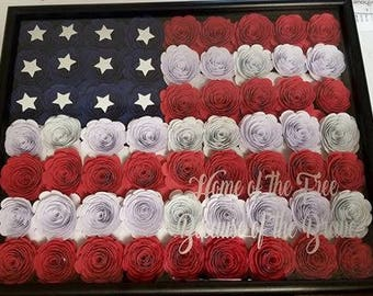 """Custom """"Home of the Free Because of the Brave"""" Shadow Box"""