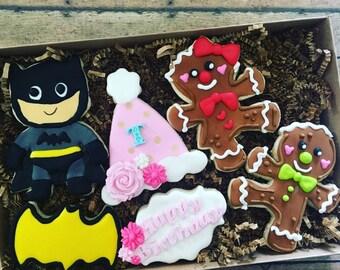 6 Custom birthday cookies in a box