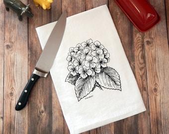 Hydrangea Flower Tea Towel