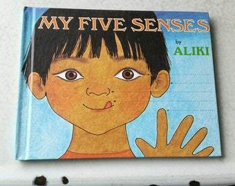 1989 My Five Senses by Aliki, Like New Condition, Vintage Children's Book, My Five Senses Hardcover, Educational Children's Book