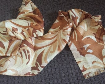 Original Authentic Retro Vintage Long Scarf autumn Browns