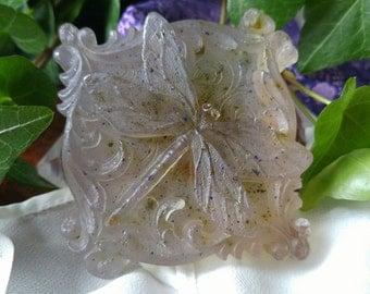 Lavender & White Thyme Glycerin Dragonfly Soap -Vegan-