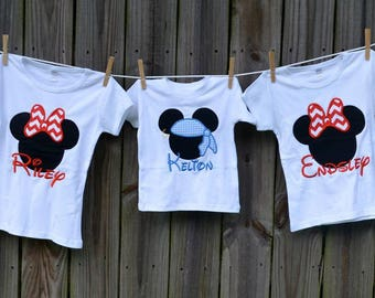 Personalized Pirate Mouse Applique Shirt or Onesie Boy or Girl