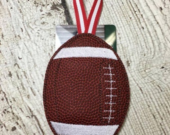 Football - Gift Card Holder  - Ornament -  In The Hoop - DIGITAL Embroidery DESIGN