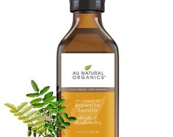 Frankincense Oil, Organic Frankincense, Indian Frankincense, Boswellia Serrata, Essential Oil, Yoga Oil, Meditation Oil, 3.4 oz (100 ml)