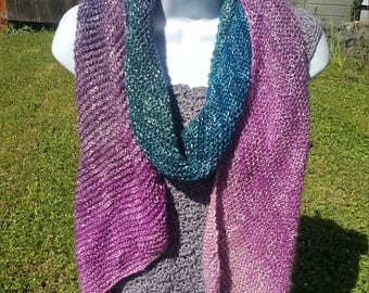 Super soft knit scarf, wrap scarf holiday gift, woman scarf, scarves and wraps, metallic thread, lotus blossom