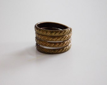 Copper/ Brass Ring, Copper/Brass Multi wrapped Ring