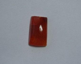 22 carat bright orange carnelian cabochon