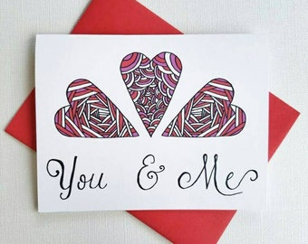 Love Card for Wife, Card for Girlfriend, Anniversary Card Him, Anniversary Card for Husband, Love Card for Boyfriend, Love Card for Her