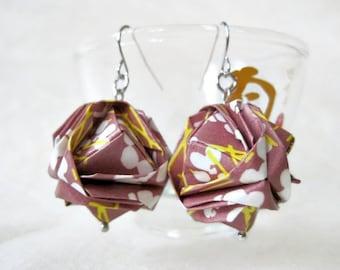 Origami Earrings - Paper Earrings - WC26 - Japanese Brocade