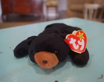 TY Beanie Babies BLACKIE Bear 1994